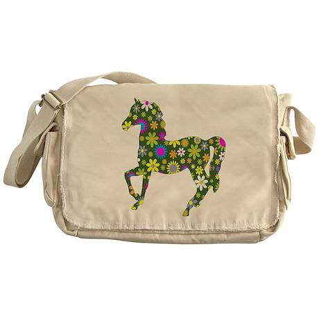 horse running to love Messenger Bag