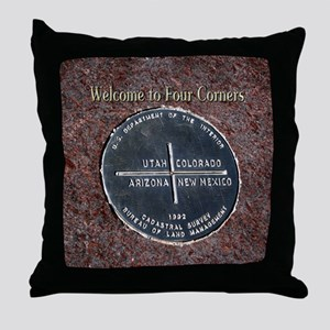 Four Corners Monument in Navajo Natio Throw Pillow