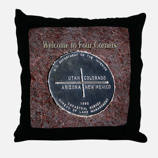 Four Corners Monument in Navajo Natio Throw Pillow