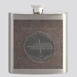 Four Corners Monument in Navajo Nation USA Flask