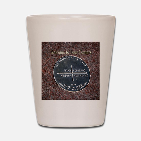 Four Corners Monument in Navajo Nation  Shot Glass