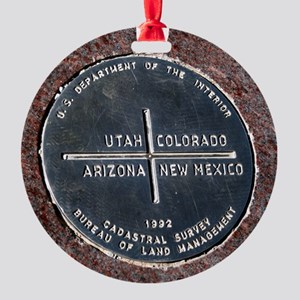 Four Corners USA Geographical Marke Round Ornament