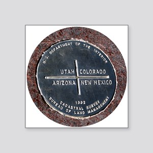"Four Corners USA Geographic Square Sticker 3"" x 3"""