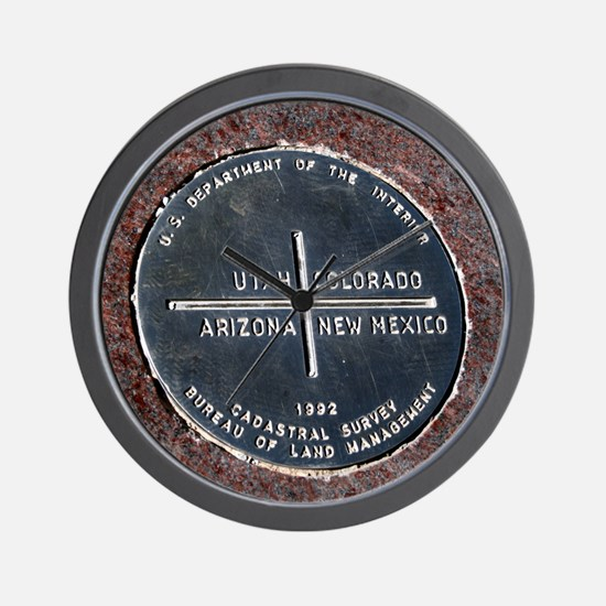 Four Corners USA Geographical Marker Wall Clock
