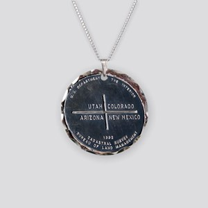 Four Corners USA Geographica Necklace Circle Charm