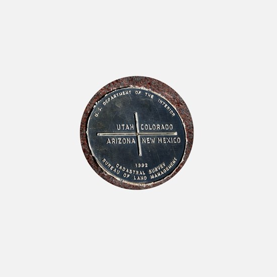 Four Corners USA Geographical Marker Mini Button