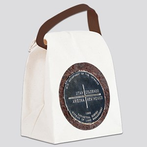Four Corners USA Geographical Mar Canvas Lunch Bag