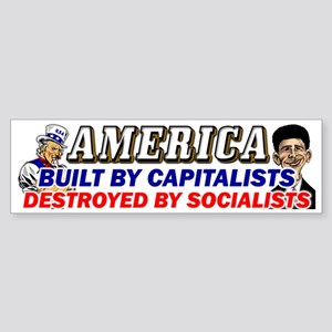 Destroyed By Socialists! Sticker (Bumper)