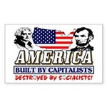 Destroyed By Socialists Sticker (Rectangle)