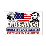 Destroyed By Socialists 20X12 Wall Decal