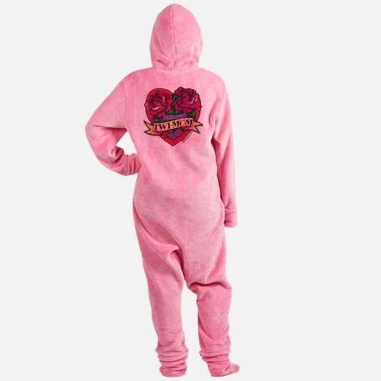 Twilight Twi-Mom Tattoo Heart Roses Footed Pajamas