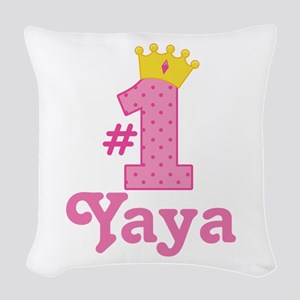 Yaya (Number One) Woven Throw Pillow