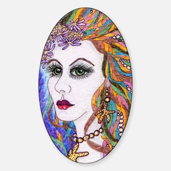 Seraphina - mermaid Sticker (Oval)