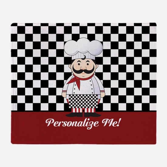 Personalized French Chef Throw Blanket