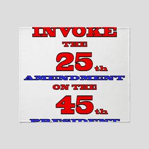 Invoke the 25th Amendment Throw Blanket