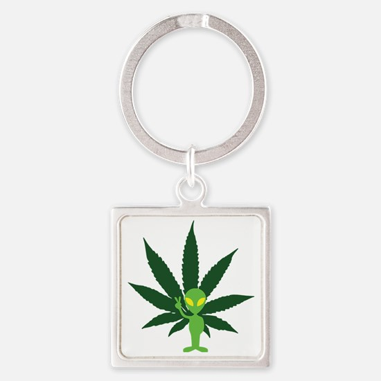 Spaced-People Square Keychain