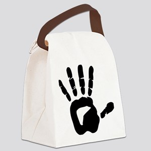 hand_left Canvas Lunch Bag