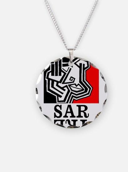 Sartre Philosophy Existentialism Necklace Circle C