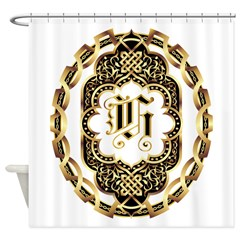 Monogram H Shower Curtain