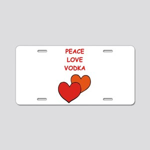 vodka Aluminum License Plate