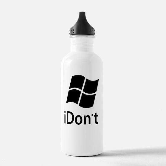2-idont-shirt2 Water Bottle