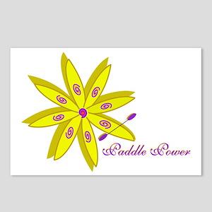 2-artsy flower kayak mom Postcards (Package of 8)