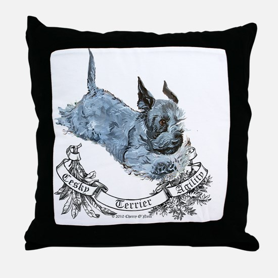 Cesky agility Throw Pillow