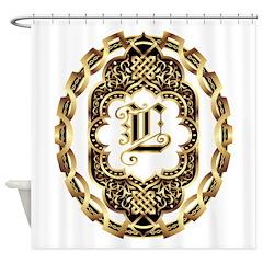 Monogram L Shower Curtain