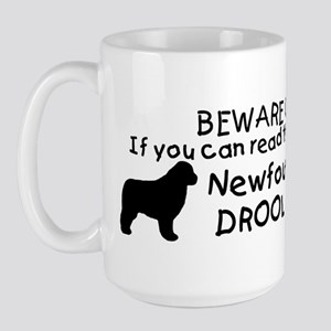Newfoundland Dog Drool Zone Large Mug
