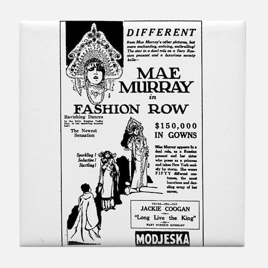 Mae Murray Fashion Row Tile Coaster