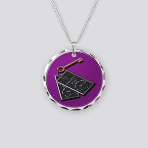 master key purp rnd Necklace Circle Charm