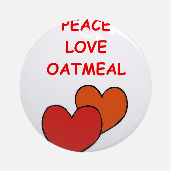 oatmeal Ornament (Round)