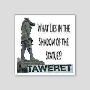 "tawaret shadow Square Sticker 3"" x 3"""