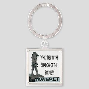 tawaret shadow Square Keychain
