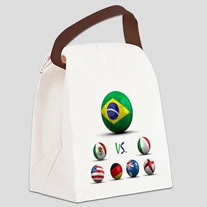 BrazilVsWorld Canvas Lunch Bag