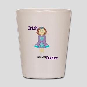 irishdancertee3 Shot Glass