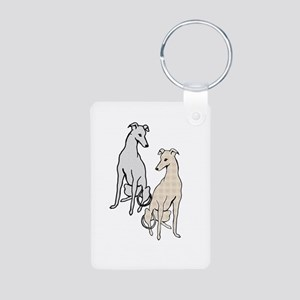 2-greys-sitting-ELITE-LOGO Aluminum Photo Keychain