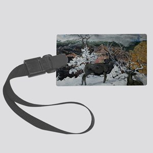 deer in Grand canyon 14x10 Large Luggage Tag