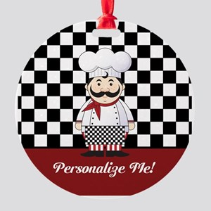 Personalized French Chef Round Ornament