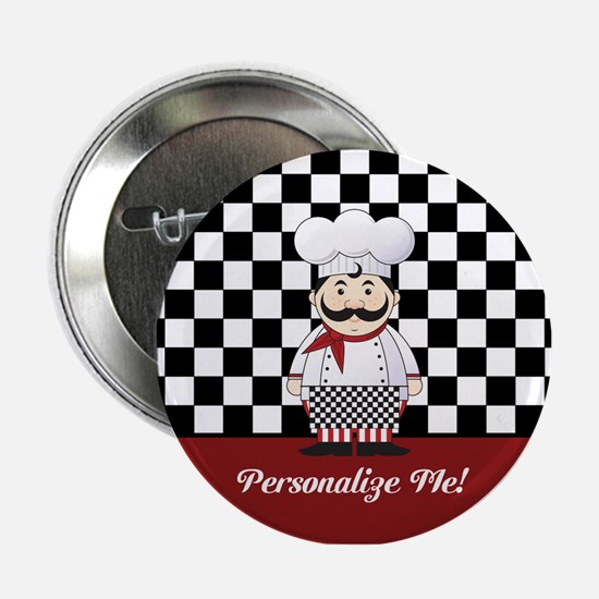 "Personalized French Chef 2.25"" Button"