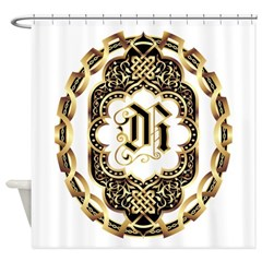 Monogram R Shower Curtain