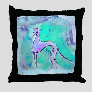Blues Hound Throw Pillow
