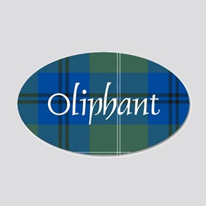 Tartan - Oliphant 20x12 Oval Wall Decal