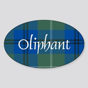 Tartan - Oliphant Sticker (Oval)