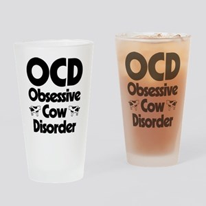 OCD Obsessive Cow Disorder Drinking Glass