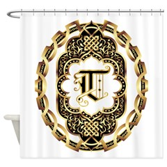 Monogram T Shower Curtain
