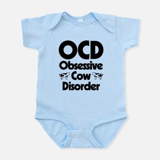 OCD Obsessive Cow Disorder Baby Light Bodysuit