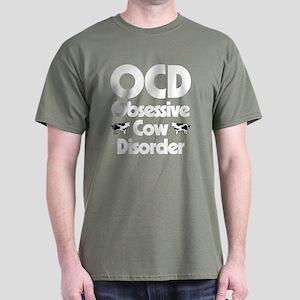 OCD Obsessive Cow Disorder Dark T-Shirt
