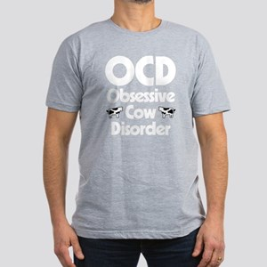 OCD Obsessive Cow Diso Men's Fitted T-Shirt (dark)