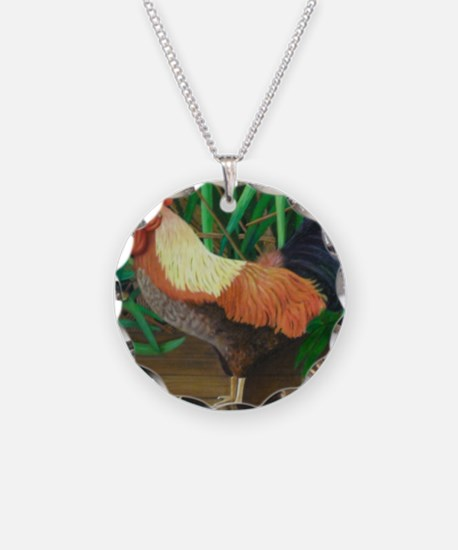 Rooster/grasshopper Necklace